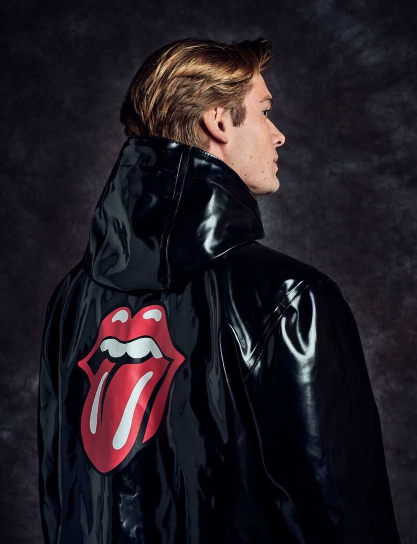 Stutterheim x Stones Glossy Coat with Lips Logo