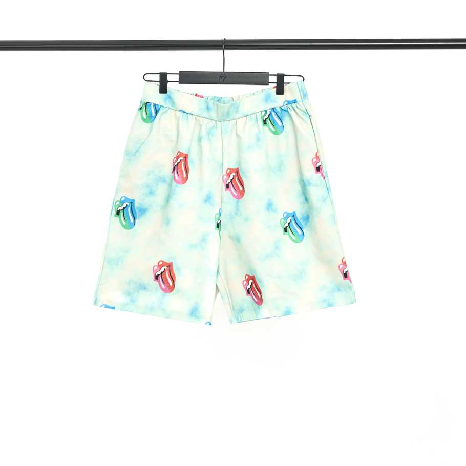Tongue Print Tropical Shorts